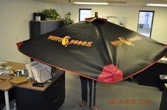 TopDogCarts.com - Mobile food cart umbrella with graphics
