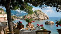 Having breakfast in Parga (Epirus) with stunning view !!