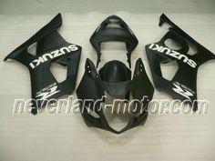 SUZUKI GSX-R 1000 2003-2004 K3 ABS Verkleidung - Schwarz #gsxr1000verkleidung #suzukigsxr1000verkleidung