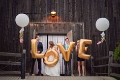 Giant Letter Balloon Wedding Ideas | Mid-South Bride Giant letter balloon garland by My Bella Angel