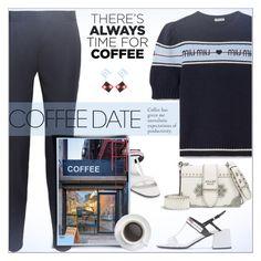 """Buzz-Worthy: Coffee Date"" by alves-nogueira ❤ liked on Polyvore featuring STELLA McCARTNEY, Miu Miu, Prada, Coffee Shop, miumiu, polyvoreeditorial and CoffeeDate"