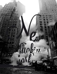 I love this; the black and white, the font used, the smoke coming over the text. I think it may be one of my favourite things ever!