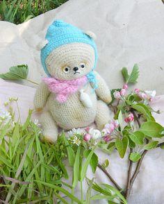 """Amigurumi Style Teddy Bear """"Ponchik"""" (doughnut)"""