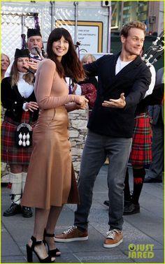 Caitriona Balfe and Sam Heughan on Good Morning America!   Outlander Online