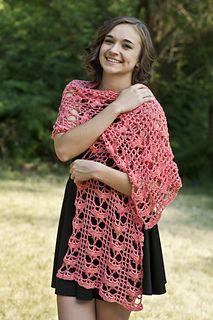 Friendship Shawl - free crochet pattern by Laura Krzak / Cascade Yarns. Dk weight.
