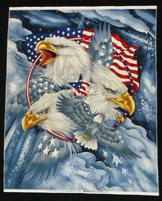 9 11 Fabric Patriotic Quilt of Valor Qov USA US Flag American Bald Eagle for sale online The Eagles, Bald Eagles, 911 Tribute, American Flag Wallpaper, Patriotic Wallpaper, American Flag Eagle, American Pride, American Quotes, Patriotic Pictures