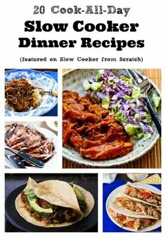 20 Cook-All-Day Slow Cooker Dinner Recipes featured on Slow Cooker from Scratch [via Slow Cooker from Scratch] #SlowCooker #CrockPot  #CookAllDay