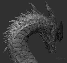 ArtStation - Dragon Sculpt, Adam Shaw