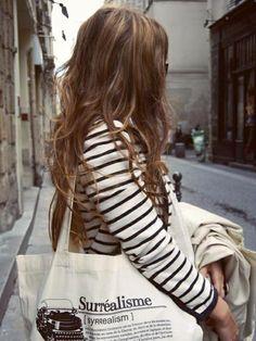 Stripes + Hair (!)