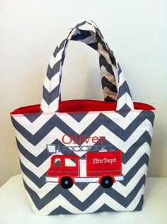 Fire Truck Diaper Bag for Baby Oliver