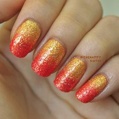 """The Happy Sloths: Elmer's Glue """"Cuticle Shield"""": Summer Textured Ombre Nails Tutorial"""
