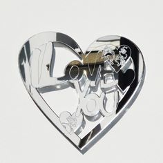 I LOVE YOU Engraved Heart Acrylic Mirror Double Sided Sticky Tape, Diy Store, Acrylic Mirror, Laser Cut Acrylic, Paint Drying, Clear Silicone, Wood Glue, Mild Soap, Craft Stores