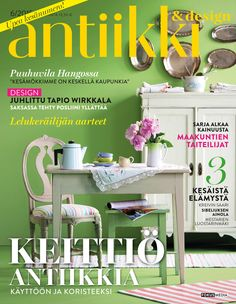 Antiikki & Design 6/2015. Magazine cover. Styling Irene Wichmann. Photo Kristiina Hemminki, Fotonokka.