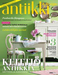 Antiikki & Design 6/2015. Magazine cover. Styling Irene Wichmann. Photo Kristiina Hemminki, Fotonokka.