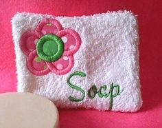 Soap Pocket Flower - 2 Sizes! | What's New | Machine Embroidery Designs | SWAKembroidery.com Band to Bow