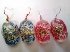Natural Dry Flower Earrings Two Colors