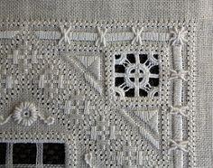 .drawn thread or reticella