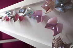 liberty paper garland Origami, Manon, Garland, Liberty, Boutique, Paper, Decor, Light Garland, Paper Flowers