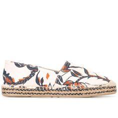 "Isabel Marant Étoile ""Canaee"" Espadrillas (6.740 RUB) ❤ liked on Polyvore featuring shoes, ecru, espadrille sandals, woven sandals, floral print sandals, slip-on shoes and espadrille shoes"