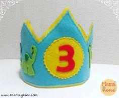 Corona de cumpleaños para niños - dinosaurios-mamaynene