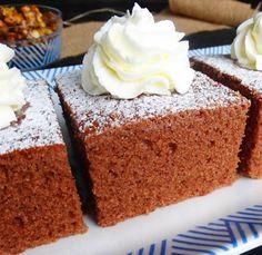 Negresa cu lapte batut este un desert fraged, pufos, usor de preparat. Gustul fantastic, face ca aceasta prajitura sa se termine imediat. Ingrediente Negresa cu lapte batut: 4 oua 1 cana zahar 1 cana ulei 1 1/2 cana lapte batut 3 cani faina 2 linguri cacao 1 plic praf de Baby Eating, Vanilla Cake, Sweets, Cakes, Cooking, Desserts, Kitchen, Tailgate Desserts, Deserts