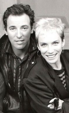 Oh my, look at these youngsters. Where did the time go!! - Bruce Springsteen and Annie Lennox