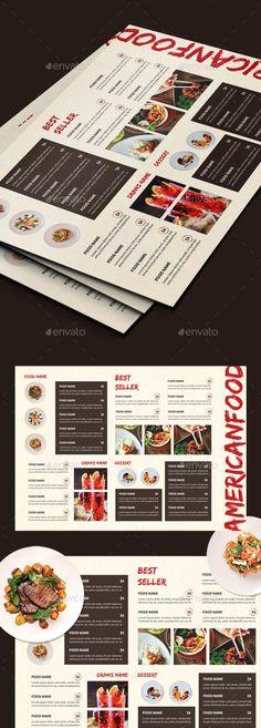 #Vintage #Food #Menus - Food Menus Print Templates Download here: https://graphicriver.net/item/vintage-food-menus/20308524?ref=alena994
