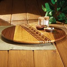 Artisan-Made Walnut & Cherry Lazy Susan  in Late Autumn 2012 from Artisan Table
