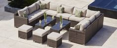 Choose from our wide range of outdoor Rattan Corner Sofa sets in a variety of weaves. Rattan Garden Corner Sofa, Corner Sofa Outdoor, Corner Sofa Set, Garden Dining Set, Rattan Garden Furniture, Outdoor Dining Furniture, Rattan Sofa, Outdoor Living, Outdoor Decor