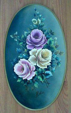 Painted myself / hakan tuna. painted myself / hakan tuna decoupage em vidro Acrylic Painting Lessons, One Stroke Painting, Tole Painting, Fabric Painting, Painting On Wood, Painting & Drawing, Folk Art Flowers, Flower Art, Deco Paint