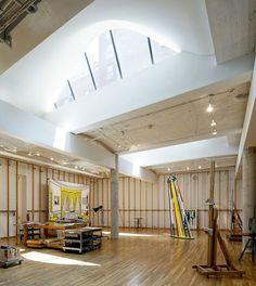Roy Lichtenstein's Studio Preserved in Greenwich Village Roy Lichtenstein, Studios Architecture, Space Architecture, Architecture Images, Greenwich Village, Painters Studio, Dream Studio, Living At Home, Art Studios