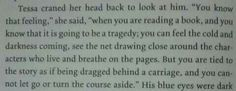 That moment when clockwork princess describes what it's like to read clockwork princess