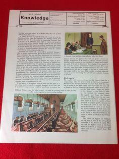 Vintage 1962 Knowledge Part Work Encyclopedia Weekly Magazine VOL 5 NO 52 | eBay