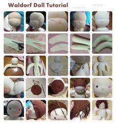 Links of Waldorf Doll Tutorial that help me complete a waldorf doll, How to make waldorf doll,