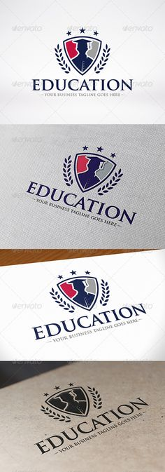 Education Logo  -  EPS Template • Only available here! ➝ https://graphicriver.net/item/education-logo/8186979?ref=pxcr