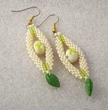 Beaded Diamond Rope Earrings