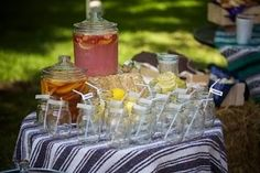Use mason jars for signature drink at the party