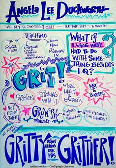 Visual Notes: Angela Lee Duckworth TED Talk - The Key to Success? Grit