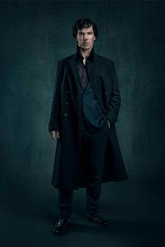 Sherl<3ck S4 Promo .. Aaahh! The Coat .. Those Curls ..  The cheekbones .. Those Eyes .. Damn! He looks so powerful and Enigmatic .. Love it! <3<3<3 ..