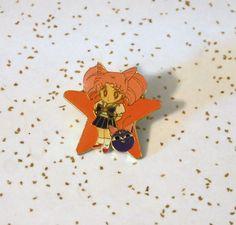 Chibimoon Chibiusa pin star shaped Rini Luna P Ball Sailor Moon Bandai Japanese #Bandai