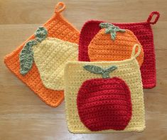 Fruity Potholders by Joy M. Prescott