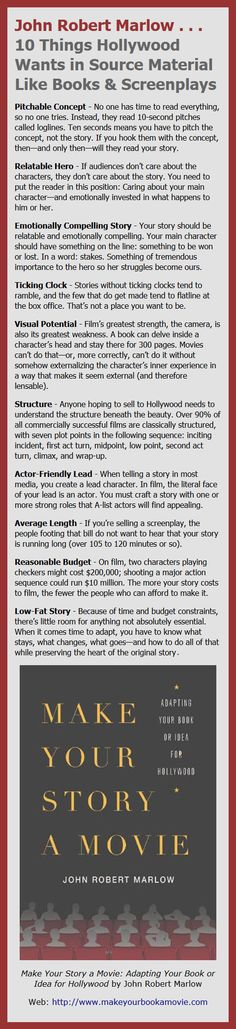 From: Make Your Story a Movie: Adapting Your Book or Idea for Hollywood by John Robert Marlow