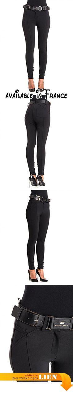 B077L2M7ZP : Elisabetta Franchi - Pantalon - Femme noir 34.