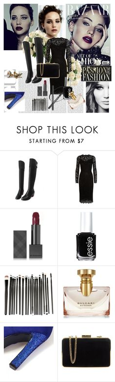 """""""Cool black"""" by allhqfashion ❤ liked on Polyvore featuring Dolce&Gabbana, Burberry, Essie, Bulgari, MICHAEL Michael Kors and Oris"""
