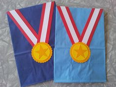 Gold Medal Birthday Party Treat Sacks Sports Olympics Gymnastics Gym Theme Goody Bags by jettabees on Etsy