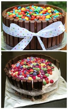 My kit kat cake looked like this. Note: while it looks cute, it is actually tricky and everyone agreed that it was really too sweet. Cupcakes, Cupcake Cakes, M&ms Cake, Baking Fails, Fail Nails, Food Fails, Bon Dessert, Pinterest Fails, Pinterest Projects