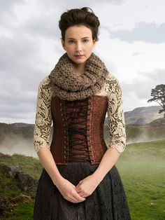 Outlander the Series Kit: Sassenach Heartwarming Infinity Cowl (Crochet). Each kit includes all the yarn you need for the project, as well as a copy of the pattern.
