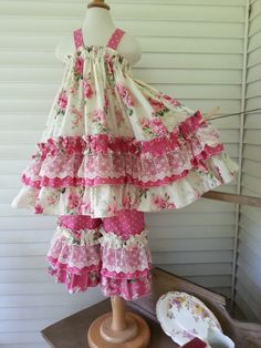 Size 2 Vintage set for a Special Birthday Girl, made by Calamity Jane's Cottage.
