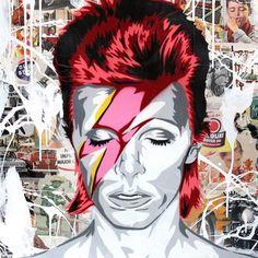 "15.3k Likes, 88 Comments - Mr Brainwash (@mrbrainwash) on Instagram: ""Happy birthday David Bowie 1/8/16 ;))"""