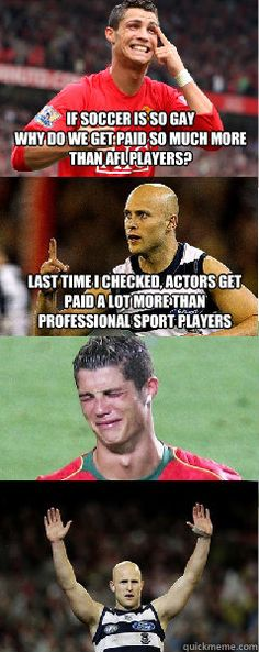 Stupid soccer players. :)